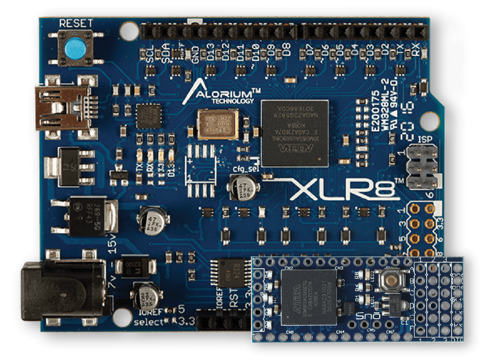 XLR8 and Snō | Arduino Compatible FPGA Development Boards