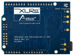 XLR8 Bottom : Arduino-Compatible Altera Max 10 FPGA Development Board
