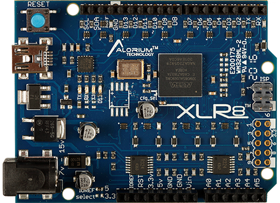 XLR8 Production Board: Arduino-Compatible and Altera MAX 10 FPGA-Based